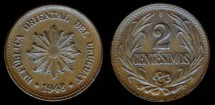 World Coins - 1948 So Uruguay 2 Centesimo UNC