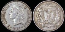 World Coins - 1937 Dominican Republic 5 Centavos XF
