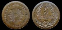 World Coins - 1944 So Uruguay 5 Centesimo UNC
