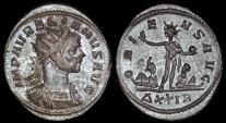 Ancient Coins - Aurelian Silvered Antoninianus - ORIENS AVG - Rome Mint