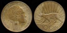 World Coins - 1936 A Uruguay 10 Centesimos AU