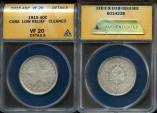 World Coins - 1915 Cuba 40 Centavos - 1st Republic - Low Relief Star - ANACS VF20