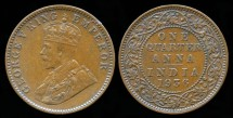 World Coins - 1936 C India (British) 1/4 Anna AU