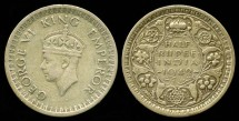 World Coins - 1942 India (British) 1/2 Rupee VF