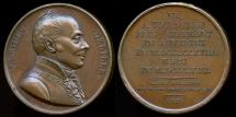 World Coins - 1821  France - Jacques Delille French writer, poet and translator by Louis-Michel Petit for the Galerie Metallique des Grands Hommes Francais