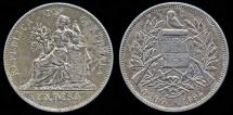1894 Guatemala 1 Peso - Justice Seated - XF