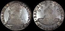 World Coins - 1838 PTS-LM Bolivia 8 Soles - Simon Bolivar - AU