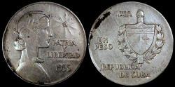 "World Coins - 1935 Cuba 1 Peso ""ABC"" XF"