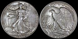 Us Coins - 1941 P Walking Liberty Half Dollar AU