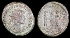 Ancient Coins - Diocletian Antoninianus - CONCORDIA MILITUM - Heraclea Mint