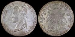 World Coins - 1854 PAZ-F Bolivia 4 Soles AU