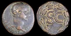 Ancient Coins - Trajan Ae26 - SC Within Laurel Wreath - Antioch Mint