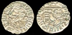 World Coins - 1468-1481 Hungary Denar - Matthias Corvinus XF