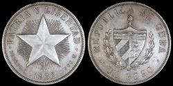 "World Coins - 1932 Cuba 1 Peso - ""Star Peso"" - AU"
