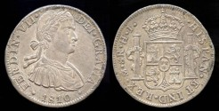 World Coins - 1810 Mo-HJ Mexico 8 Real UNC