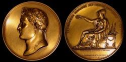 World Coins - 1810 France - Napoleon - The Decennial Prize Medal by Jean-Bertrand Andrieu and Dominique-Vivant Denon