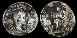 Ancient Coins - Elagabalus Denarius - TEMPORVM FELICITAS - Rome Mint