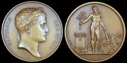 World Coins - 1809 France - Napoleon - Campaign of 1809; The Vienna Peace Treaty by Jean-Bertrand Andrieu and Dominique-Vivant Denon