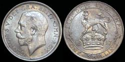World Coins - 1917 Great Britain 1 Shilling - George V - AU