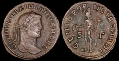 Ancient Coins - Maximianus Follis - GENIO POPVLI ROMANI - London Mint