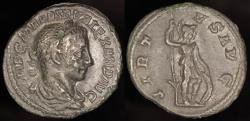 Ancient Coins - Severus Alexander Denarius - VIRTVS AVG - Rome Mint