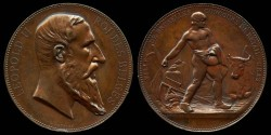 World Coins - 1879 Belgium - Brussels Livestock Competition