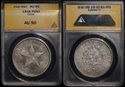 "World Coins - 1916 Cuba 1 Peso ""Star Peso"" ANACS AU50"