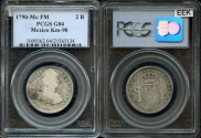 World Coins - 1790 MoFM Mexico 2 Real - Mexico City Mint - Charles IIII - PCGS G04