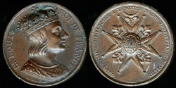 World Coins - 1693 France – Creation of the Order of St. Louis and Louis IX Portrait Medal