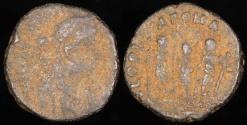 Ancient Coins - Honorius Ae4 - GLORIA ROMANORVM - Uncertain Mint