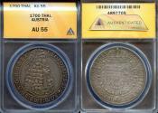World Coins - 1700 Austria 1 Thaler - Leopold I - ANACS AU55