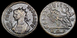 Ancient Coins - Probus Antoninianus - SOLI INVICTO - Rome Mint