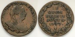 World Coins - 1777 (b) Austria Netherlands 2 Liards - VF