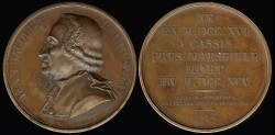 World Coins - 1824 France - Jean Jacques Barthelemy by Jacques-E'douard Gatteaux