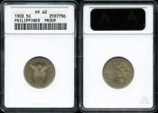 World Coins - 1903 Philippines 5 Centavos PR62