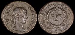 Ancient Coins - Licinius II Follis - CAESARVM NOSTRORVM - Arles Mint