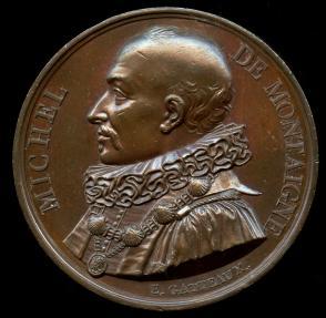 World Coins - 1817 France – Michel De Montaigne by Jacques-Édouard Gatteaux