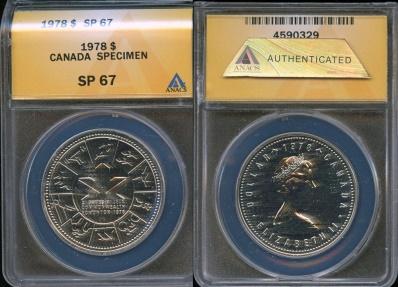 CANADA 1978 SPECIMEN COMMEMORATIVE SILVER DOLLAR COIN