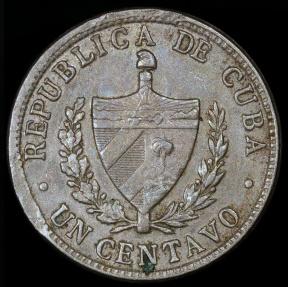 World Coins - 1946 Cuba 1 Centavo - 1st Republic - AU