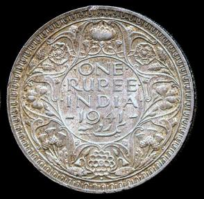 World Coins - 1941 B India 1 Rupee UNC