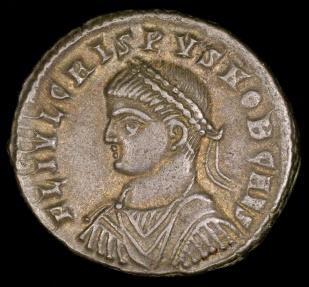 Ancient Coins - Crispus Follis - PROVIDENTIAE CAESS - Cyzicus Mint