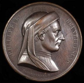 World Coins - 1440  Italy - Filippo Brunelleschi - One of the foremost architects and engineers of the Italian Renaissance by Pietro Girometti