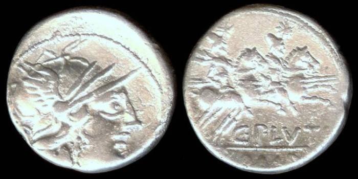 Ancient Coins - C. Plutius Denarius (121 BC)