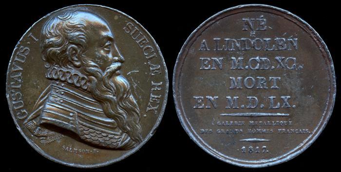 World Coins - 1817 France - Gustav I King of Sweden by Jean Baptiste Salmson