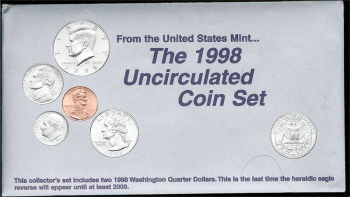 US Coins - 1998 US Mint Set