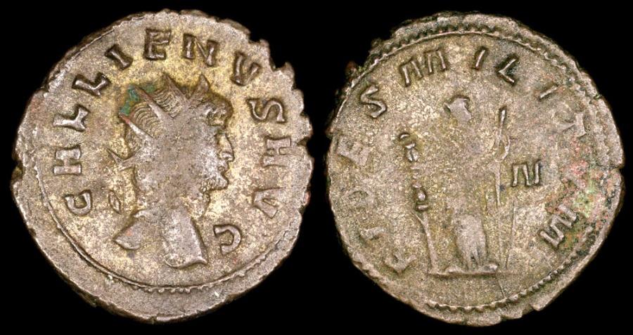 Ancient Coins - Gallienus Antoninianus - FIDES MILITVM - Rome Mint