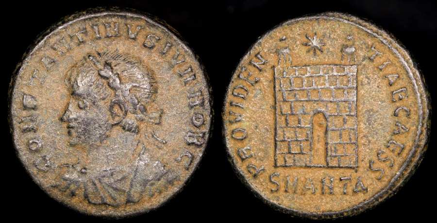Ancient Coins - Constantine II Ae3 - PROVIDENTIAE CAES - Antioch Mint