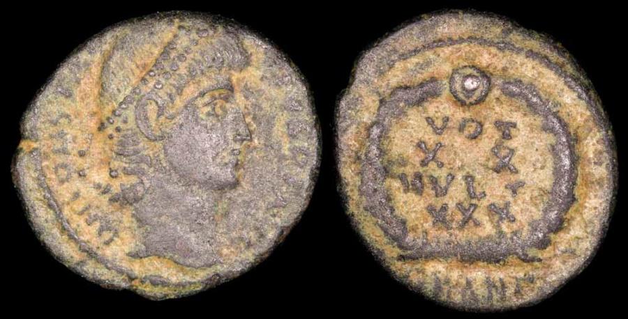 Ancient Coins - Gratian Ae4 - VOT XX MVLT XXX - Antioch Mint