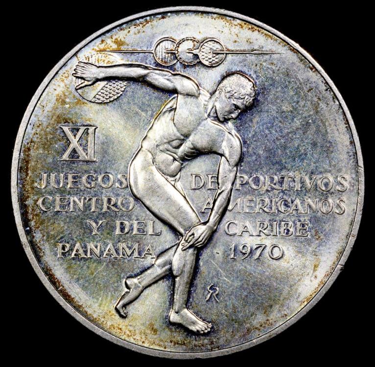 1970 Panama 5 Balboa 11th Central American And Caribbean Games Bu