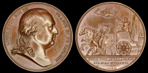 World Coins - 1814 France - King Louis XVIII Enters Paris by Jean-Bertrand Andrieu and Guy Antoine Brenet